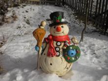 keramický sněhulák