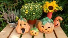 keramické hallowenské dekorace v malovaném provedení