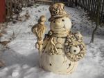 sněhulák velký,keramická zahradní dekorace