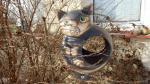 krmítko kočka,keramická zahradní dekorace