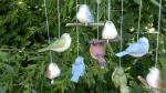 ptáček závěsný malovaný,keramická dekorace