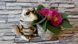 žába kvak + květináč keramická zahradní dekorace
