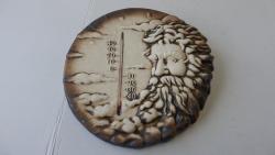 teploměr,keramická nástěnná dekorace