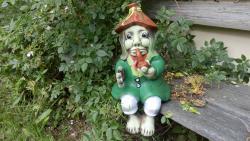 vodník sedící keramická,zahradní dekorace